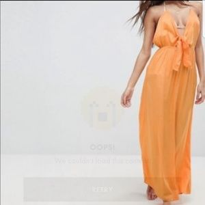 Brilliant Orange Full Length Cover up
